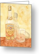 Ken Greeting Cards - Powers Irish Whiskey Greeting Card by Ken Powers