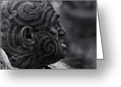 Rugby World Cup Greeting Cards - Powhiri - welcome No1 Greeting Card by Dennis William Gaylor
