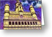 Cuty Greeting Cards - Poznan City Hall Greeting Card by Mo T
