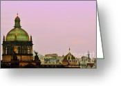 Evening Scenes Photo Greeting Cards - Prague - A living fairytale Greeting Card by Christine Till