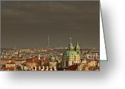 Roof Greeting Cards - Prague - A symphony in stone Greeting Card by Christine Till