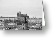 Prague Greeting Cards - Prague - City of a Hundred Spires Greeting Card by Christine Till