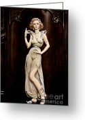 Sexy Women Greeting Cards - Prague - Mysteriously Beautiful Greeting Card by Christine Till