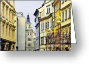 Tourism Greeting Cards - Prague - Walking in the footsteps of kings Greeting Card by Christine Till