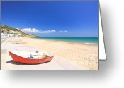 Beaches Greeting Cards - Praia da Salema Greeting Card by Carl Whitfield