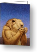 Furry Greeting Cards - Prairie Dog Greeting Card by James W Johnson