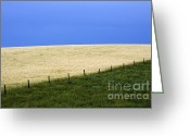 Alberta Prairie Landscape Greeting Cards - Prairie Horizon Greeting Card by Bob Christopher