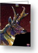 Abstract Realism Painting Greeting Cards - Prairie Prince Greeting Card by Bob Coonts