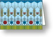 Cornfield Greeting Cards - Prairie Wheat Greeting Card by Vlasta Smola
