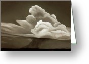 Prairie Landscape Greeting Cards - Prairy Storm III Greeting Card by Garry McMichael