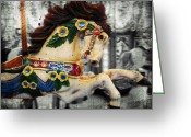 Selective Color Greeting Cards - Prancer Greeting Card by Colleen Kammerer