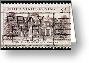 United States Postage Greeting Cards - Pray for Peace Greeting Card by Andy Prendy