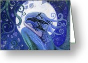 Sky Painting Greeting Cards - Prayer Greeting Card by Amanda Clark