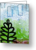 Tree Greeting Cards - Prayer Flags Greeting Card by Linda Woods