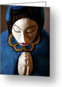 Santa Fe Greeting Cards - Prayer Greeting Card by Glennis Siverson