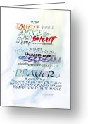 Cry Greeting Cards - Prayer Greeting Card by Judy Dodds
