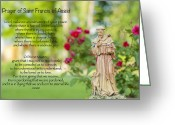 Assisi Greeting Cards - Prayer of St. Francis of Assisi Greeting Card by Bonnie Barry