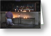 Churches Photo Greeting Cards - Prayer Time Guatemala Greeting Card by Kurt Van Wagner