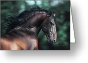 Horse Art Pastels Greeting Cards - Pre Platero through Christiane Slawiks eyes Greeting Card by Lilian Faria