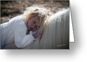 Storybook Greeting Cards - Precious Angel Greeting Card by Terry Kirkland Cook