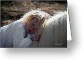 Storybook Greeting Cards - Precious Girl Greeting Card by Terry Kirkland Cook