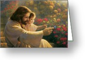 Jesus Art Painting Greeting Cards - Precious In His Sight Greeting Card by Greg Olsen
