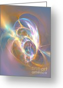 Computerart Greeting Cards - Precious life - Fractal art Greeting Card by Sipo Liimatainen