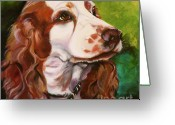 Spaniel Print Greeting Cards - Precious Spaniel Greeting Card by Susan A Becker