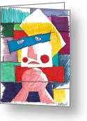 Nose Drawings Greeting Cards - Pregare Greeting Card by Teddy Campagna