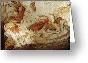 Caves Greeting Cards - Prehistoric Artists Painted Robust Greeting Card by Sisse Brimberg