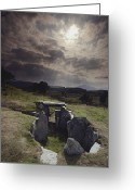 Graves And Tombs Greeting Cards - Prehistory Enigmatic Stone Burial Greeting Card by Farrell Grehan