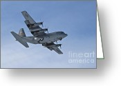 C130 Greeting Cards - Prepare for Landing Greeting Card by Rick  Monyahan