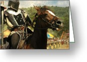 Knight In Shining Armour Greeting Cards - Prepare the Joust Greeting Card by Paul Ward