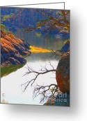 Watson Lake Greeting Cards - Prescott Greeting Card by Robert Hooper