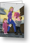 Mother Gift Greeting Cards - Present For Mother Greeting Card by Martin Davey
