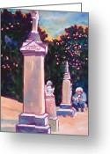 Precious Painting Greeting Cards - Present Meets Past Greeting Card by Kathy Braud