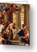 Baby Jesus Greeting Cards - Presentation in the Temple Greeting Card by Simon Vouet