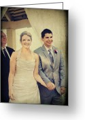 Husband Digital Art Greeting Cards - Presenting the Newlyweds Greeting Card by Laurie Search