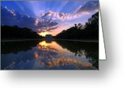 Lincoln Memorial Photo Greeting Cards - Preservation of the Spirit Greeting Card by Mitch Cat