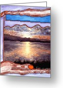 Sunset Greeting Cards Mixed Media Greeting Cards - Preserving The Memories Greeting Card by Patrick J Murphy