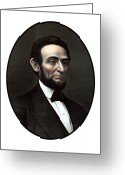 Emancipation Greeting Cards - President Abraham Lincoln  Greeting Card by War Is Hell Store