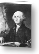 Presidential Portrait Greeting Cards - President George Washington Greeting Card by International  Images