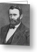 Civil Greeting Cards - President Grant Greeting Card by War Is Hell Store