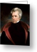 Founding Fathers Painting Greeting Cards - President Jackson Greeting Card by War Is Hell Store