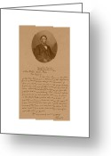 Vintage Mixed Media Greeting Cards - President Lincolns Letter To Mrs. Bixby Greeting Card by War Is Hell Store