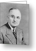 Harry Greeting Cards - President Truman Greeting Card by War Is Hell Store