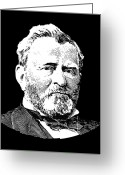 Civil Greeting Cards - President Ulysses S. Grant Greeting Card by War Is Hell Store