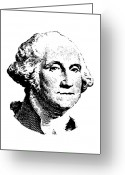 Us Patriot Greeting Cards - President Washington Greeting Card by War Is Hell Store