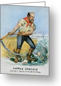 Scythe Greeting Cards - Presidential Campaign, 1880 Greeting Card by Granger