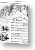Republican Greeting Cards - Presidents Hymn, 1863 Greeting Card by Granger